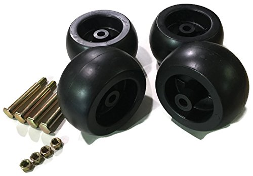 2pk Deck Wheel w Bolts For MTD Fits Cub Cadet RZT-50 LT1042 LT1046 LT1050 753-04