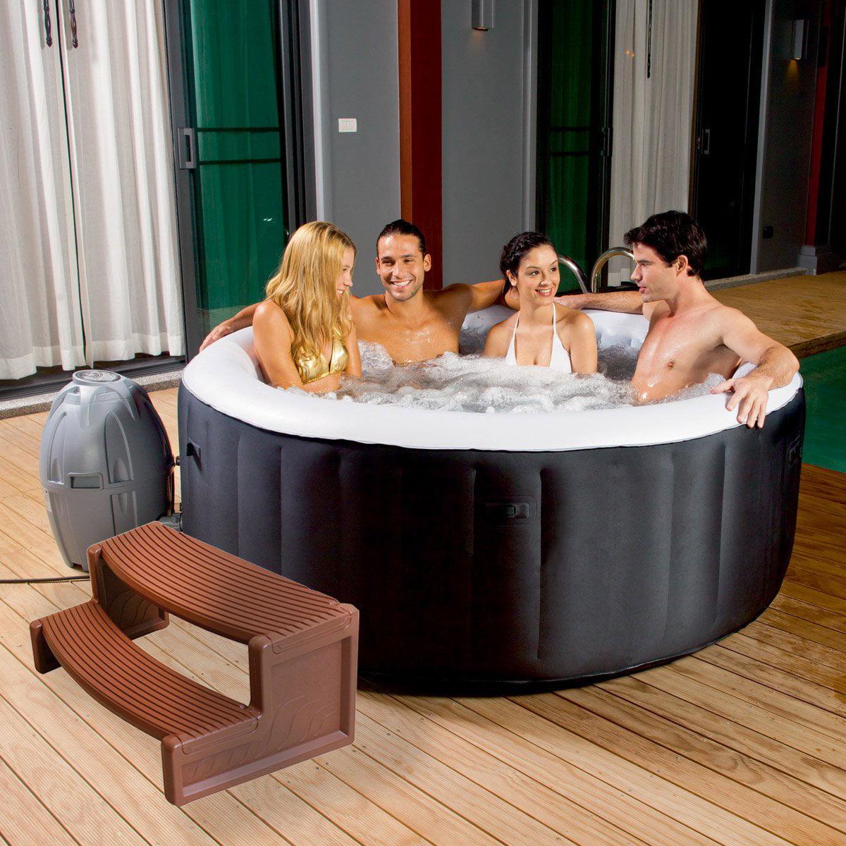 Confer Plastics HS2 Resin Multi Purpose Spa Hot Tub Handi-Step Steps, Mahogany