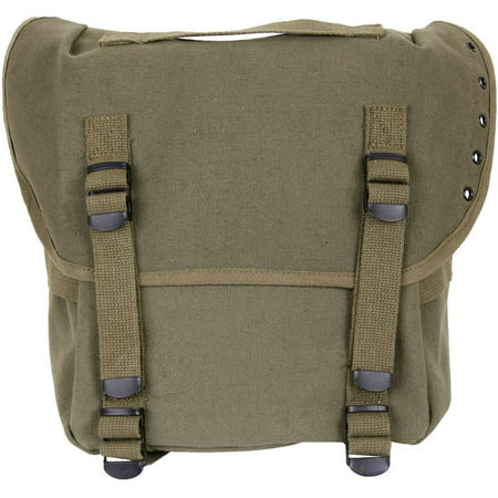 Military Butt Pack (GI Style Canvas Enhanced Army Military Hiking Olive Drab Green Camo Butt Pack)