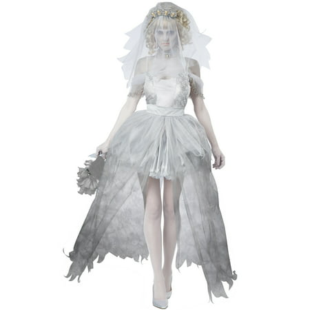 Ghostly Bride Adult Costume - Bride Of Chucky Costume Kids