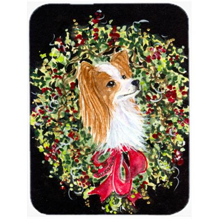 Carolines Treasures SS8953LCB Christmas Wreath Papillon Glass Cutting Board, Large - image 1 of 1