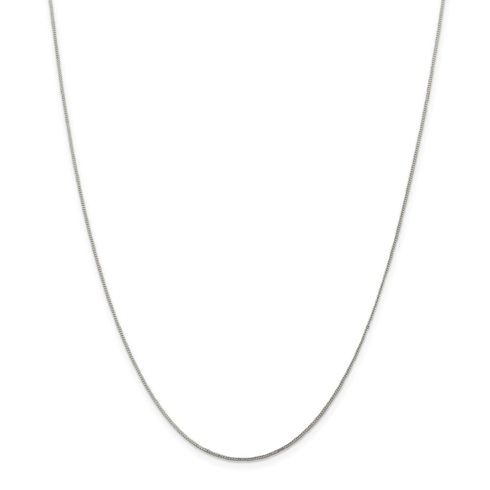 Sterling Silver 0.8mm Open Curb Chain Necklace