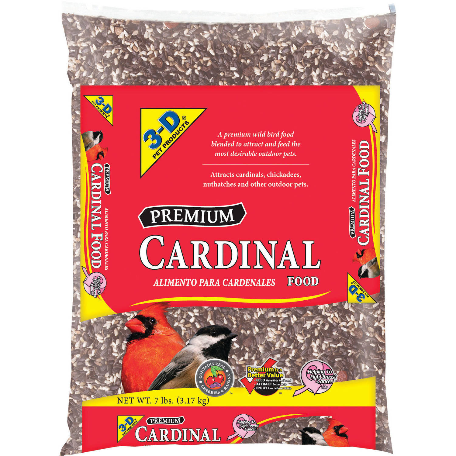 3-D Pet Products Cardinal Food, 7 Lbs by D&D Commodities Ltd.