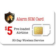 $5 Alarm SIM Card for GSM Home Security Alarm System + GPS Tracker