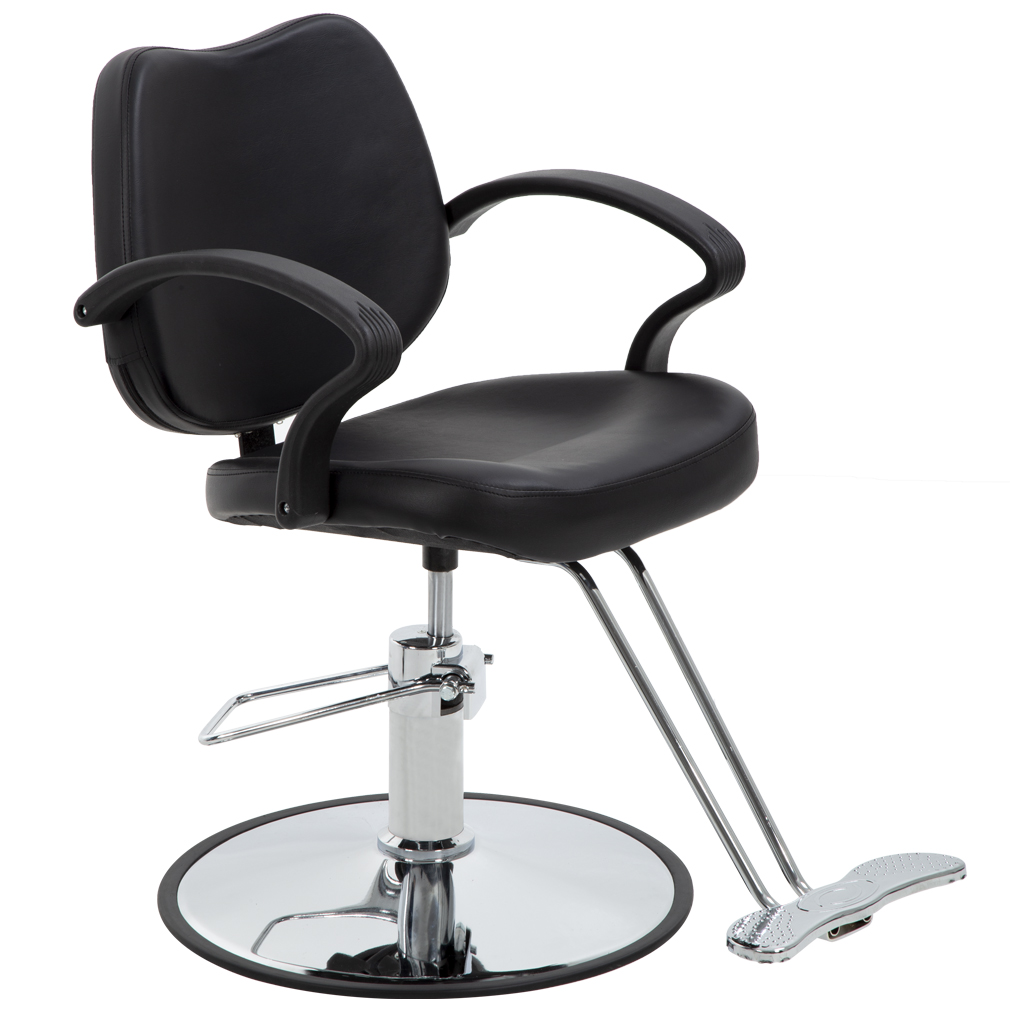 Black Classic Hydraulic Barber Chair Styling Salon Beauty 3W by BestSalon