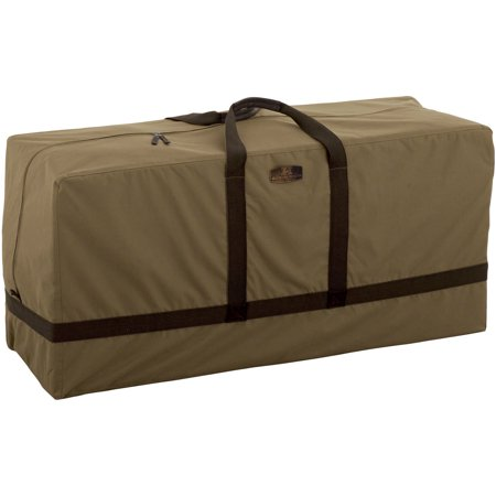 Classic Accessories Hickory Patio Furniture Cushion Storage Bag, Tan ()