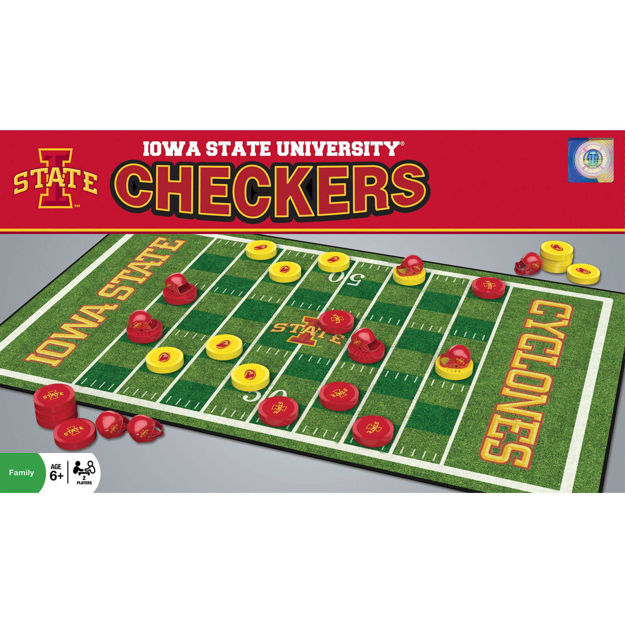 MasterPieces NCAA Iowa State Checkers Game by Generic