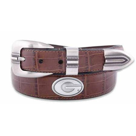 Georgia Concho Crocodile Tan Leather Belt (Crocodile Belt)