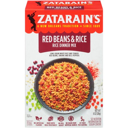 Zatarain's Red Beans & Rice Rice Dinner Mix, 8 oz (Best Red Beans And Rice Mix)