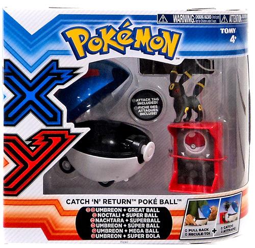 Pokemon TOMY Catch n Return Pokeball Umbreon & Great Ball Figure Set