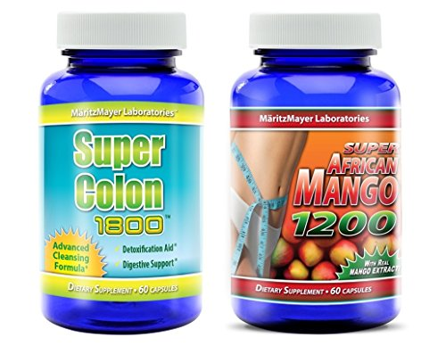 Super Colon 1800 & Super African Mango 1200 Weight Loss Cleanse 1 ..., chest fat burner,100 shredded fat burner