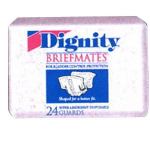 Dignity Briefmates Super Guard Briefs 45'' to 58'', Bag of 30
