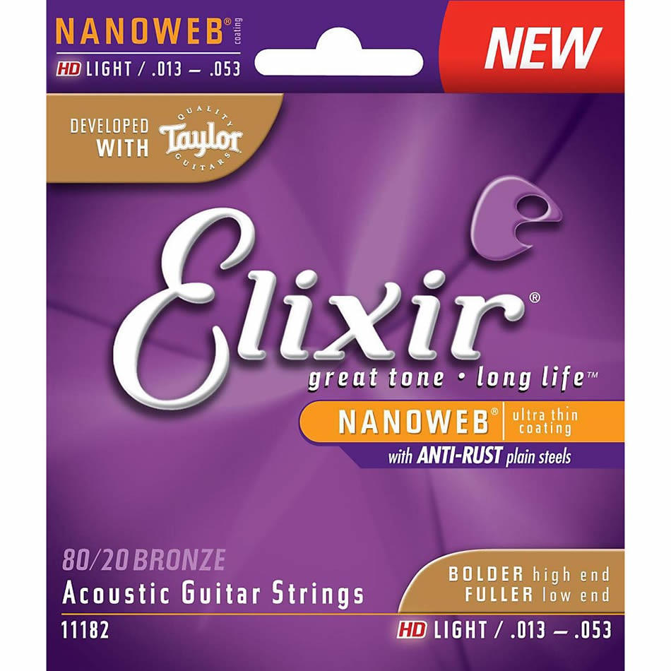 Elixir Polyweb Phosphor Bronze Hd Light Gauge Acoustic Strings