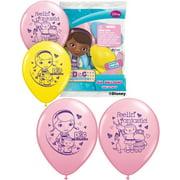 "Set of 6 Doc McStuffins 12"" Assorted Color Balloons"