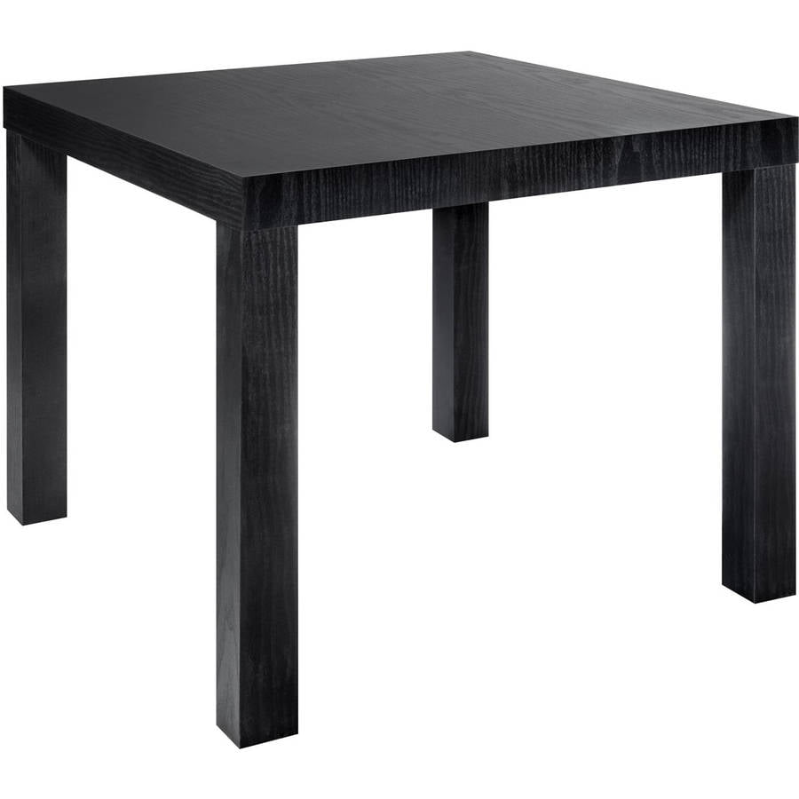Mainstays Parsons Square End Table, Black - Walmart.com - Walmart.com