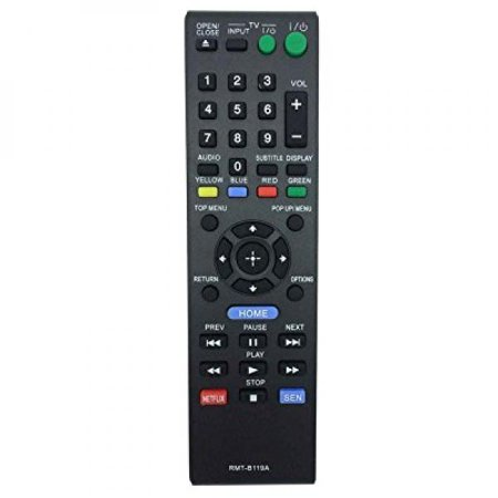 VINABTY New Replaced Remote RMT-B119A Fit for Sony Blu-ray Player Replace Remote Control BDP-BX110 BDP-BX310 BDP-BX510 BDP-BX59 BDP-S1100 BDP-S3100 BDP-S390 BDP-S5100 BDP-S580 BDP-S590 Rmtb119a