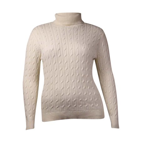 (Charter Club Women's Metallic Cable Turtleneck Sweater)