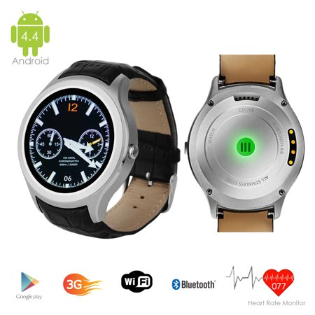 Indigi   Factory Unlocked  3G Smartwatch   Phone Android 4 4 Kitkat Os   Wifi    Google Maps   Built In Camera