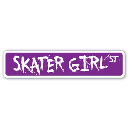 SKATER GIRL Street Sign skateboard skates skateboarding rink skating   Indoor/Outdoor   24