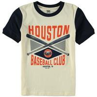 Houston Astros Youth Timeless Pastime Ringer T-Shirt - Cream/Navy