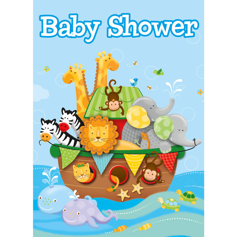 Noah's Ark Baby Shower Invitations, 8-Count