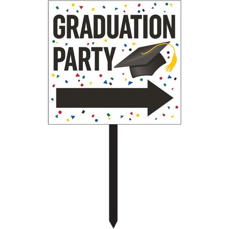 Creative Converting Graduation Yard Sign - Baby Announcement Signs For Yard