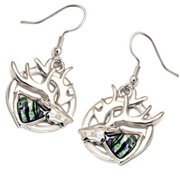 88 Imports AE0138 Paua Shell Earrings- Reindeer