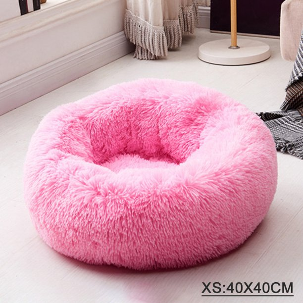 Cat And Dog Bed Donut Cat Dog Bed Ultra Soft Faux Fur Cat Bed Self Warming Cuddler Washable Round Pets Bed For Cats And Small Dogs Walmart Com Walmart Com