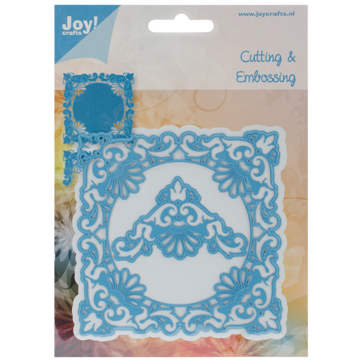 """Joy! Crafts Cut & Emboss Die-Ornate 4""""X4"""" Frame & Delicate 2"""" Corners"""