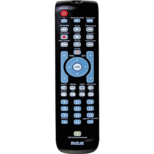 RCA 3-Device Universal Remote Control w/ Green Backlit Keypad