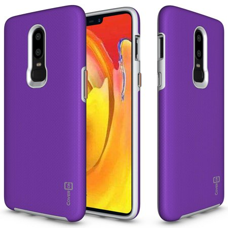 the best attitude 2f057 6f2f8 CoverON OnePlus 6 Case, Rugged Series Protective Hybrid Phone Cover