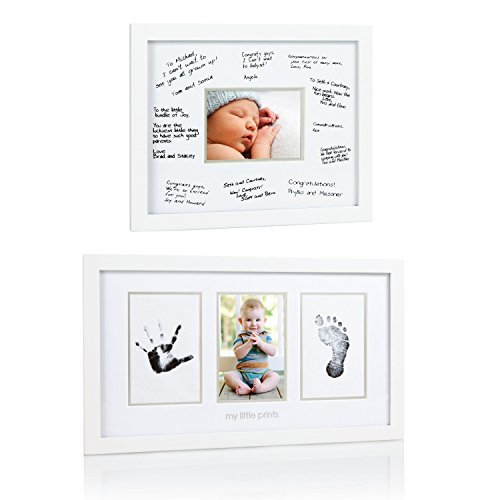 "Maven Gifts: Pearhead Signature Frame, White with Pearhead \My Little Prints"" Frame"""