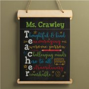 Colorful Teacher Gift - Personalized Hanging Canvas Banner