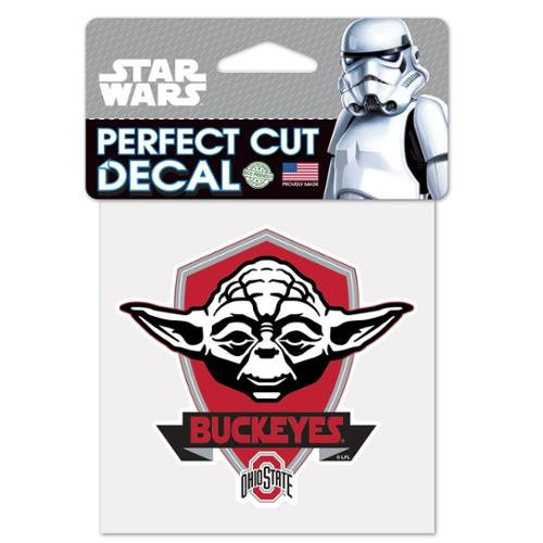 NCAA Star Wars Yoda Die Cut Car Decal Wincraft