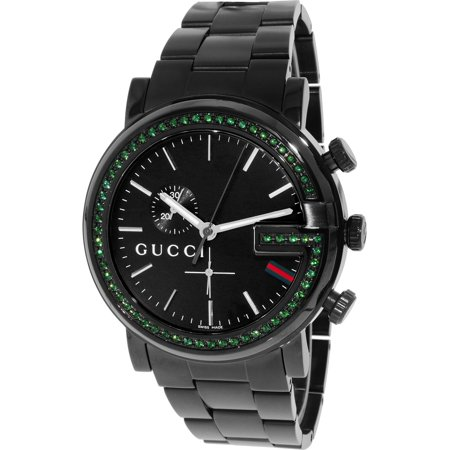 e00c8101ce7 Gucci - Men s G-Chrono YA101349 Black Stainless-Steel Swiss Quartz Fashion  Watch - Walmart.com