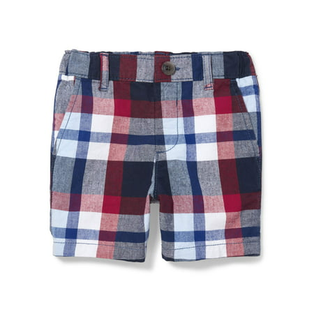 The Children's Place Toddler Boys All Around Plaid Print Chino Shorts (Toddler - Toddler Plaid Shorts