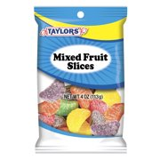 Taylors Candy 4 oz Mixed Fruit Slices Candy