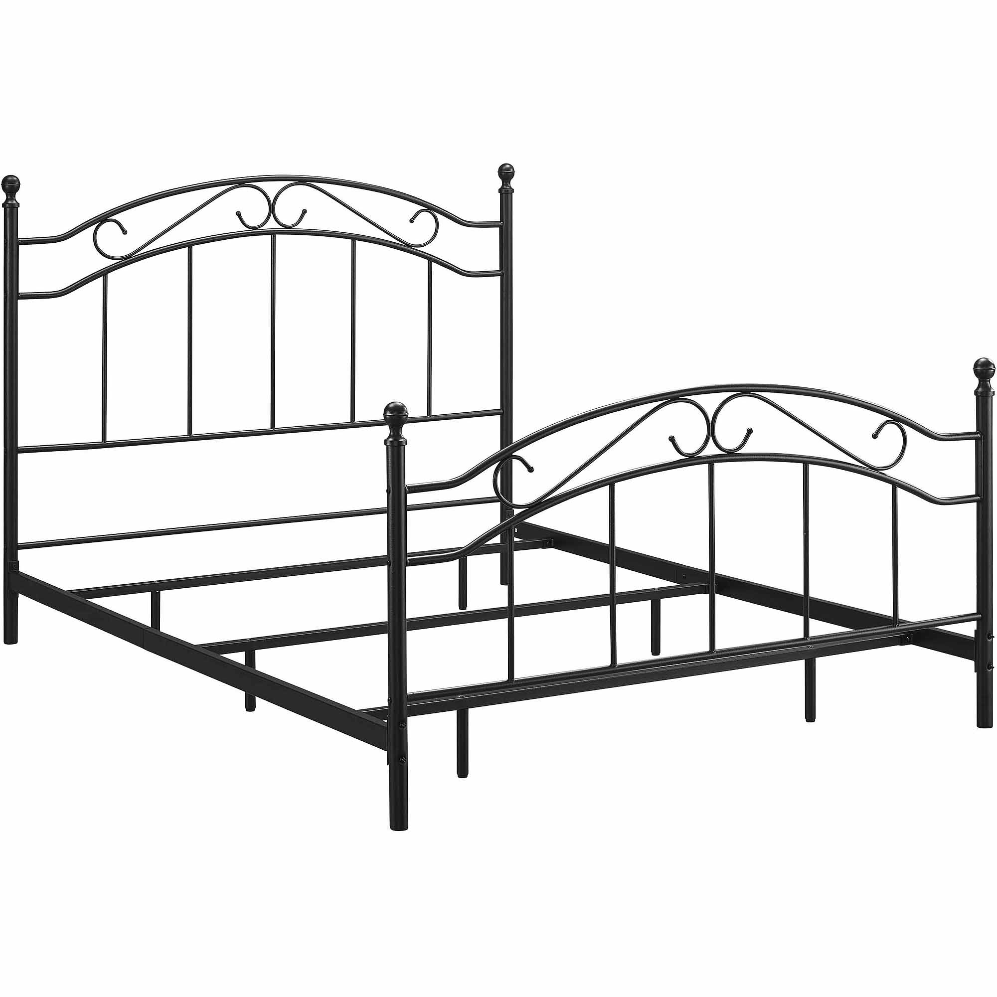 Metal Bed Frames Queen mainstays queen metal bed, black - walmart