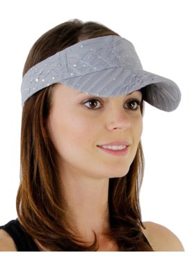 Greatlookz Glitter Sequin Visor with Flowers for Ladies in Many Colors