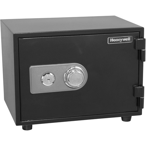 Honeywell 0.61 cu ft Water-Resistant Steel Fire and Security Safe, Black