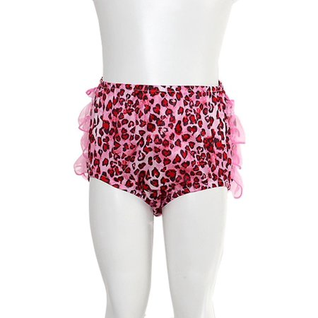 - Pink Bloomers Size 3M Black Animal Print Ruffle Baby Girl