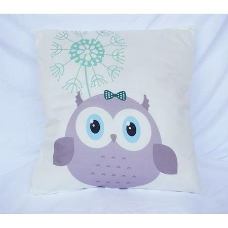 Adorable Owl Friend - Cotton Throw Pillow - Pillow Friends
