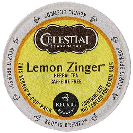 Keurig Celestial Seasonings Teas, Lemon Zinger, K-Cup packs, 72 Count