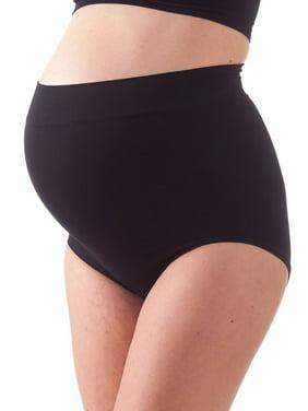 Bellissima Women's Maternity Over Bump Briefs Light Support Pregnancy Panty (Black, S/M)
