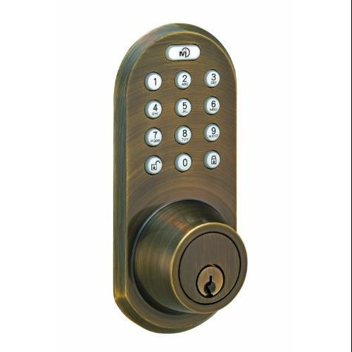 Morning Industry Inc Qf-01aq 3-in-1 Remote Control & Touchpad Dead Bolt [antique Brass] (qf01aq)