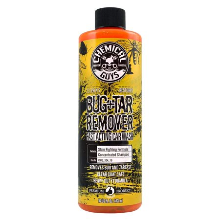 Chemical Guys CWS_104_16C12 Bug and Tar Heavy Duty Car Wash Shampoo (16 oz) (Case of 12) ()