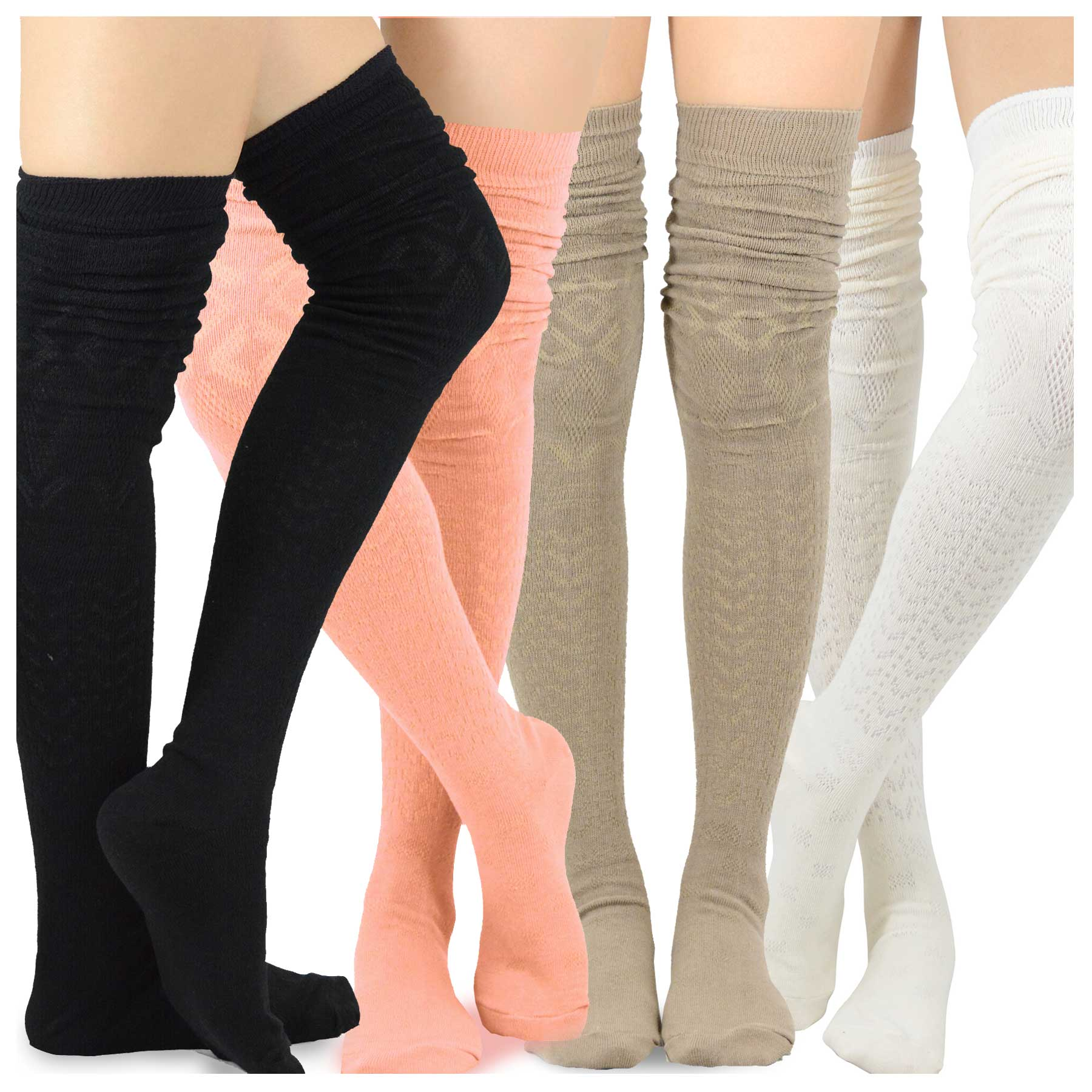 Fire Department Womens Essential Cotton Thigh High Tube Sock