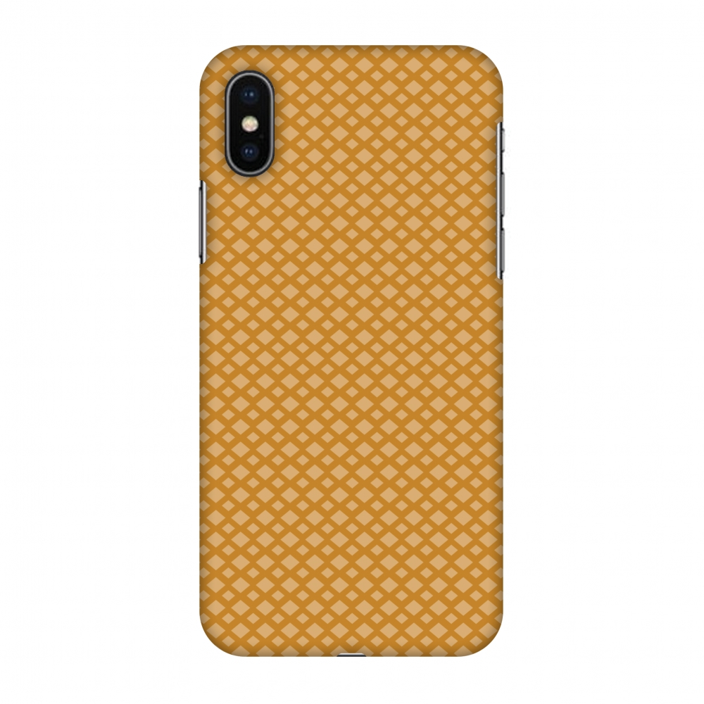 iPhone X Case, Premium Handcrafted Designer Hard Shell Snap On Case Printed Back Cover with Screen Cleaning Kit for iPhone X, Slim, Protective - Carbon Fibre Redux Desert Sand 7