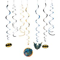 Batman Swirl Value Pack for Birthday - Party Supplies - Licensed Tableware - Misc Licensed Tableware - Birthday - 12 Pieces