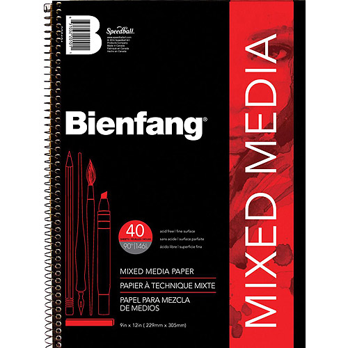 "Bienfang 9"" x 12"" Mixed Media Paper Pad"